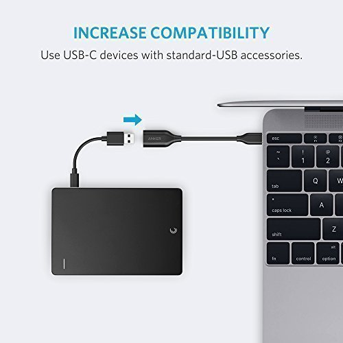 Anker USB-C to USB 3.1 Adapter, Converts USB-C Female into USB-A Female, Uses USB OTG Technology, Compatible with Samsung Galaxy Note 8, Galaxy S8 S8+ S9, Google Pixel, Nexus 6P 5X, LG V20 G5 and more