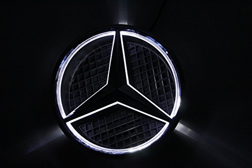 Smk wholesale car front grille led logo for mercedes benz for Mercedes benz symbol light