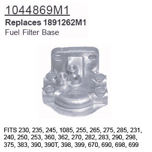 1044869M1 Massey Ferguson Parts Fuel Filter Base 230, 235...