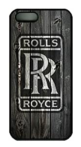 Rolls Royce Car Logo Iphone 5/5S Black Sides Hard Shell PC Case by eeMuse