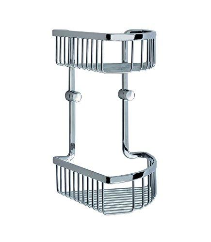 Smedbo SME LK377 Soap Basket Corner 2 Level, Polished Chrome
