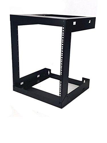 12U Wall Mount Open Frame 19'' Server Equipment Rack Threaded 15 inch depth Black (12U)