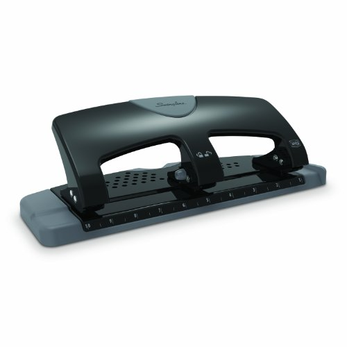 Swingline 3 Hole Punch, SmartTouch, Low Force, 20 Sheets Punch Capacity (Hole 20 Sheet)