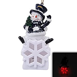 Los Angeles Chargers Snowman LED Ornament