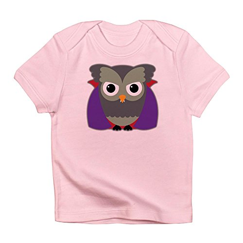 Truly Teague Infant T-Shirt Spooky Little Owl Vampire Monster - Petal Pink, 18 To 24 -