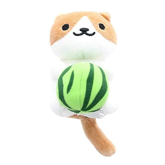 Neko Atsume Cocoa Plush | With Watermelon | Kawaii Cat Plushies 1