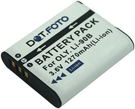 SH-60 Dot.Foto Batterie de qualit/é pour Olympus LI-90B TG-1 3,6v // 1270mAh SH-50 TG-4 SP-100EE SH-2 TG-3 TG-2 Olympus SH-1 garantie de 2 ans TOUGH TG-Tracker LI-92B XZ-2