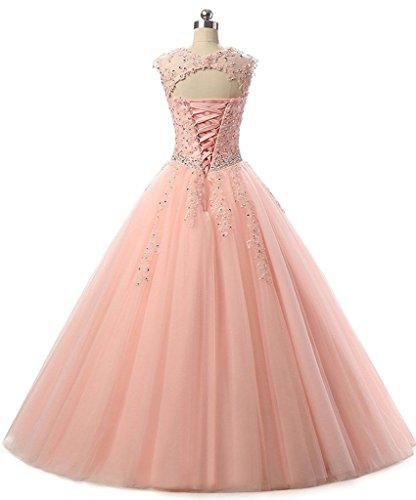 de tulle de bal robe soir Noir d'honneur demoiselle du bal de APXPF Femme robe dentelle robe de formelle 7fWXH