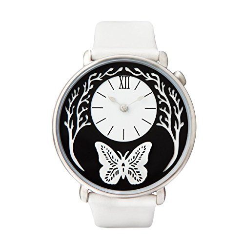 (Dial by Sarah Dennis (Silver) - artist designed women's watch with 2 straps! )