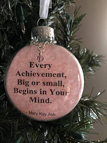 Mary Kay Christmas Images.Amazon Com Glass Round Flat Puffed Ornament Mary Kay Ash
