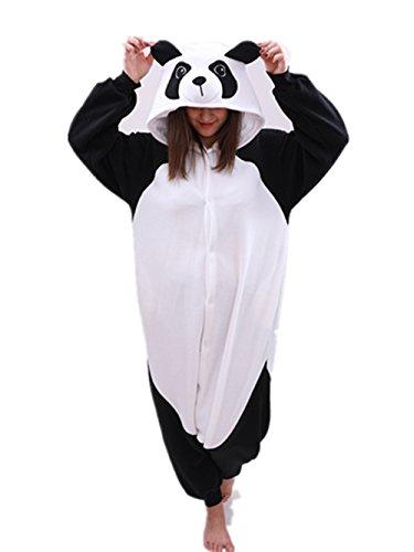 - Animal Onesie Panda Pajamas- Plush One Piece Costume (X-Large, Black/White)