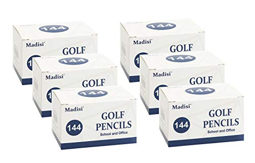 Madisi Golf Pencils, 2 HB Half Pencils, 3.5'' Mini Pencils, Pre-Sharpened, 6 Boxes, 864 Count by Madisi (Image #4)