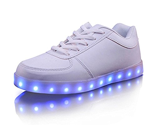 Joansam USB Charging LED Shoes Flashing Sneakers White1 d021hUTKE
