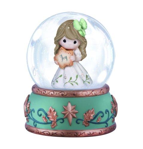 Precious Moments, Joy , Resin Glass Snow Globe, Musical, 141100