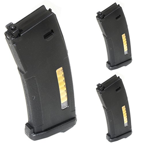 Airsoft Shooting Gear PTS 3pcs EPM 120rd Enhanced Polymer Magazine For Systema PTW M4 / M16