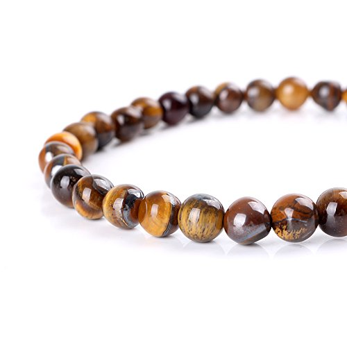 - Mallofusa Tiger Eye A Grade Gemstone Loose Beads Artificial Round 8mm Crystal Energy Stone Healing Power for Bracelets Jewelry Making Best Gift Idea- Yellow