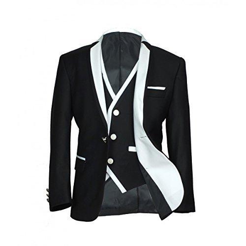 Ragazzi Abbigliamento Formale Esclusivo Slim Nero Abiti con Bianco  Cordoncino Paggetto Matrimonio Festa Abito Ragazzo Comunione 4999ce5a73c