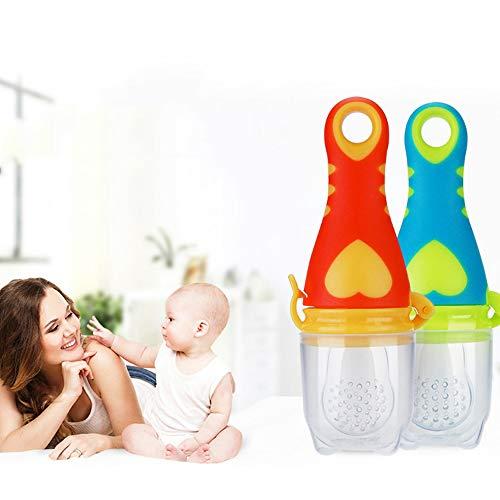 Alimentador de alimentos para bebé, chupete suave seguro para bebés - herramientas de alimentación para verduras frutas #4 Talla:S: Amazon.es: Bebé