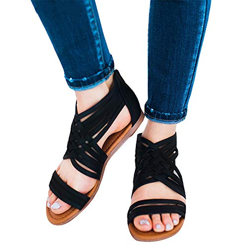 61f5b263f5b softme Women s Flats Criss Cross Sandals Strappy Back Zipper Gladiator  Sandals for Women - Buy Online in Jordan.