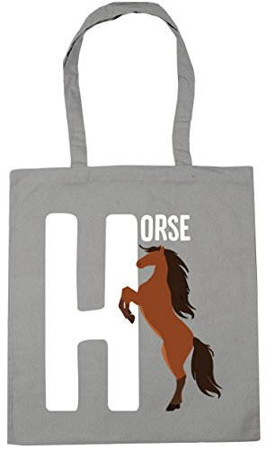 Light 42cm for animal Grey 10 H HippoWarehouse x38cm alphabet Bag Beach Tote Shopping litres is horse Gym wBZWfqT