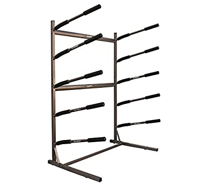 Stoneman Sports 5 SUP Freestanding Storage Rack Paddleboards Floor Stand