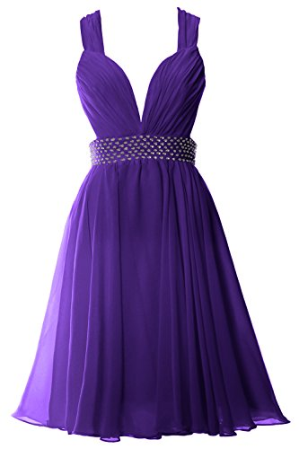 Violett Sexy Women Party Chiffon MACloth Straps Formal Gown Neck Short Prom V Dress Zx7qaqCdw