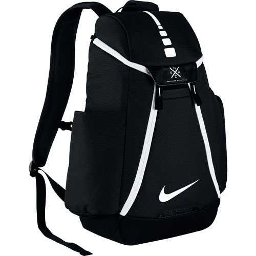 NikeTM Hoops Elite Max Air Team Backpack with ultradurable water-resistant polyester, Dedicated laptop sleeve, Perfect for Sports, Travel and School (Black 12) (Rolling Shoes Nike compare prices)