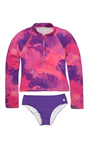 OFFCORSS Big Girls Tween Swimsuit UV Protection Long Sleeves Cute Rashguard Shirt Summer Clothing Trajes de Baño de Verano Para Niña Grande Violet 6