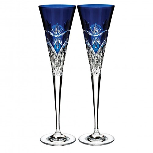 Waterford 2019 Times Square Midnight Flute, Pair