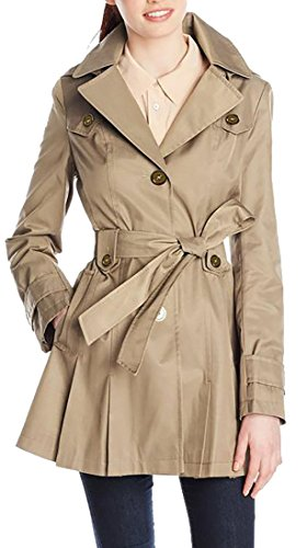 Belted Single Breasted Trench Coat - 8