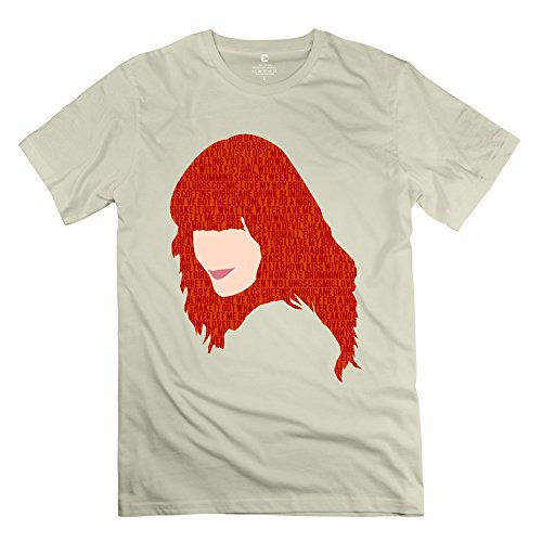 Popular Florence Welch And The Machine Men's T Shirt Natural Size XS (M8 Htc Otterbox One)