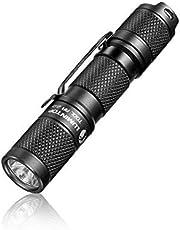 Lumintop Tool AA Led-zaklamp, superhelder, 650 lumen, kleine handlamp met Cree XPL led, 5 modi, IP68 waterdicht, 1 AA/14500 batterij aangedreven lamp voor dagelijks gebruik, outdoor, camping, wandelen, noodgevallen, (zwart)