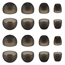 ALXCD Ear Adapters for Sennheiser Momentum In-Ear Earbud, XS/S/M/L 4 Sizes 8 Pair Soft Silicone Replacement Ear Tip Ear Adapters, Fit for Sennheiser Earphone Momentum (8 Pairs)