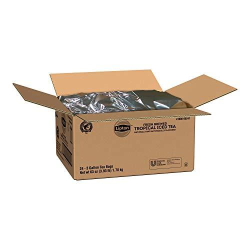 Lipton Tropical Iced Tea - 3 gallon tea bags, 24 per case by Ubf Foodsolutions (Image #1)