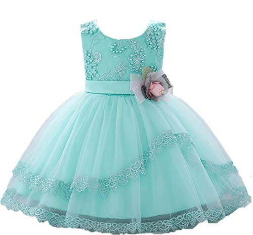 Baby dress baptism dresses for baby girls dresses baby girl dress christening dresses for baby girl wedding dress dress for girls baby girl dress easter dresses for baby girls (Tiffany Blue, 90) -