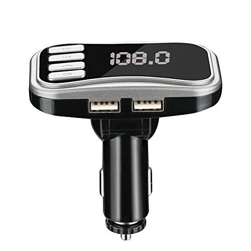 Finedayqi ❤ Wireless Bluetooth FM Transmitter Modulator Car Kit MP3 Player Dual USB Charger (Silver)