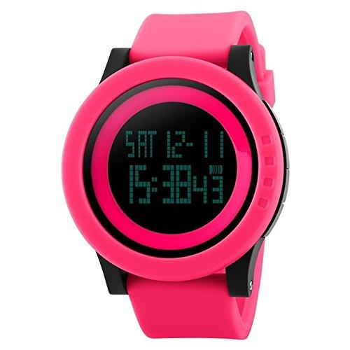 Reloj Skmei Digital Mod. Venecia - Fucsia - COD. 007 FC: Amazon.es: Relojes
