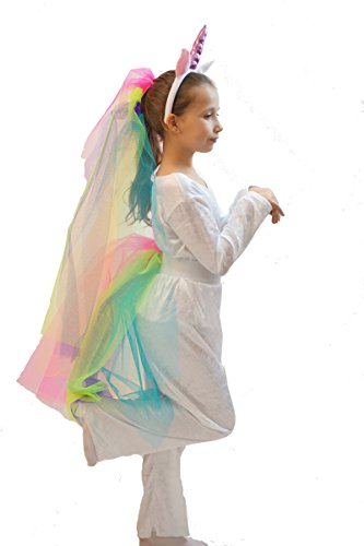[World Book Day-Dance-Stage-Fancy Dress-My Little Pony- UNICORN COSTUME - In All Children's Sizes (AGE 7-8)] (Child's Unicorn Costume Uk)