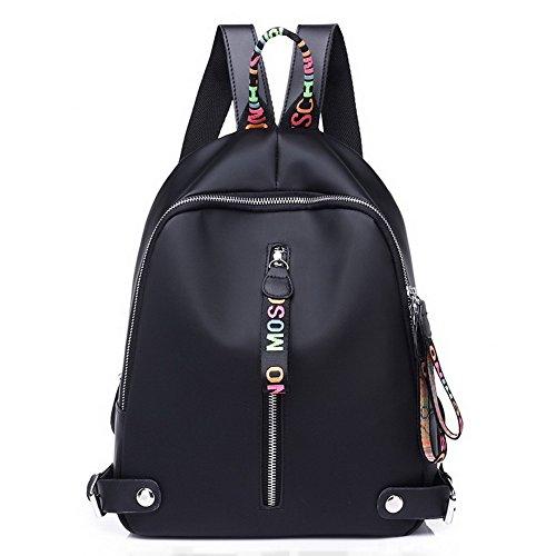 Odomolor Mode Daypack Sacs Femme de Daypacks Dos Noir Toile ROFBL180677 à Escalade Randonnée qrArIc1w