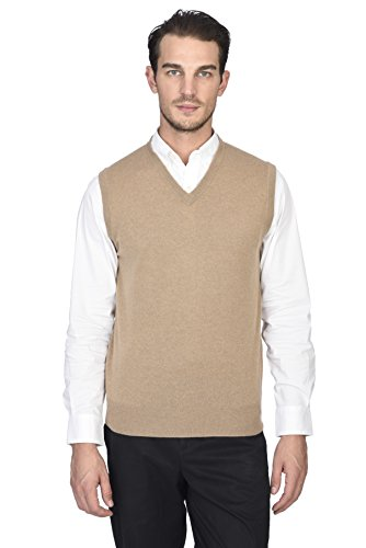 V-neck Performance Sweater Vest (State Cashmere Men's 100% Pure Cashmere Regular Fit Pullover Casual Sweater Vest)