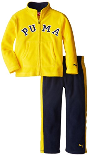 PUMA Little Boys' Colorblock Polar Fleece Set, Gold Fusion, 4