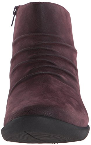 CLARKS Womens Sillian Chell Boot Aubergine Synthetic Nubuck