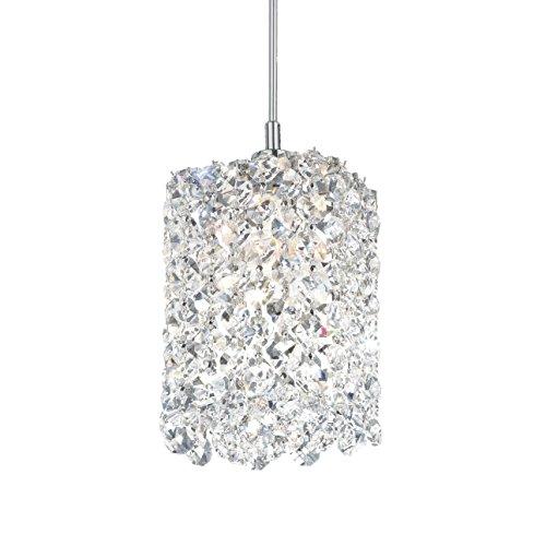 Schonbek RE0405JAG Swarovski Lighting Refrax Pendant Light, Stainless Steel