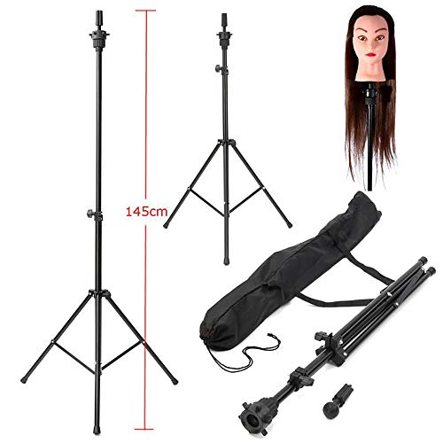 Manikin Head Wig Tripod Stand Adjustable Stand Mannequin Tripod Hairdressing Training Holder (A) (a)