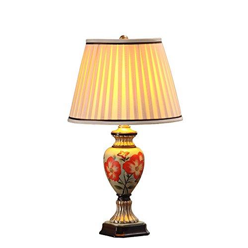 YFF@ILU handgemalten europäischen pastorale Amerikanischen Lampe warm Nachttischlampe Schlafzimmer modernen minimalistischen Hochzeit innovation Wohnzimmer Tischleuchte