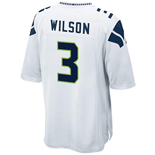 (Ouyehcs Russell_Wilson_White #3 Fans Jersey Sportswears Football Game Jerseys)