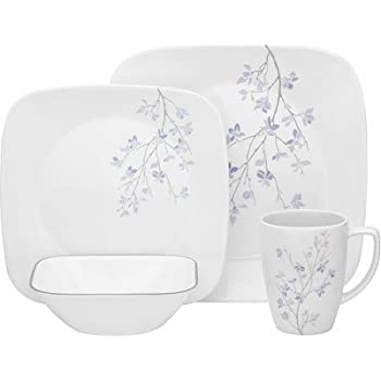 16-Piece Break and Chip-Resistant Square Dinnerware Set Made of Glass  sc 1 st  Amazon.com & Amazon.com: 16-Piece Break and Chip-Resistant Square Dinnerware Set ...
