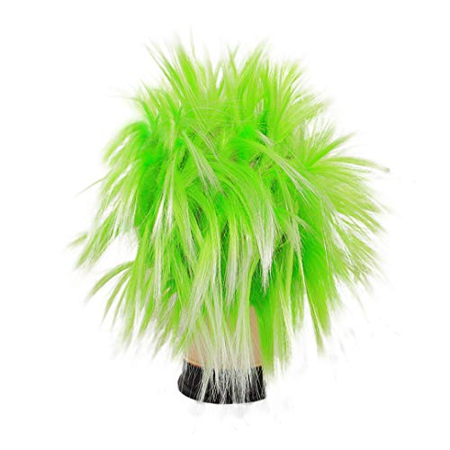 Multifit Unisex Funky Spiky Wigs Crazy Halloween Costumes Cosplay Punk Wig Accessory(Green) -