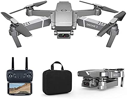AKDSteel E68 Drone Hd Wide Angle 4k WiFi 1080p FPV Drone Video Live Recording Quadcopter Height to Maintain Drone Cameravs...
