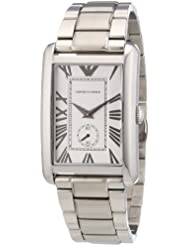 Mens AR1607 Silver Dial IP Stainless Steel Watch